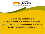 SSC Combined Graduate Level Exam English Language Test 1
