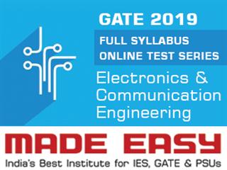 GATE 2019 Full Syllabus Online Test Series (ECE)