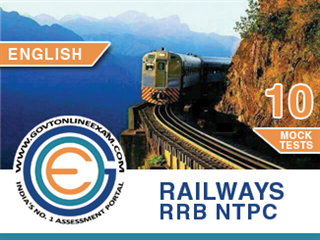 RRB NTPC English Test Series