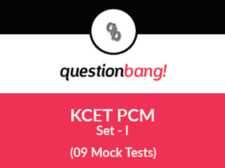 KCET – PCM Online Test (Set – I)