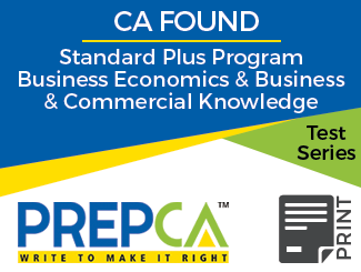 CA Foundation Standard Plus Program Business Economics & Business and Commercial Knowledge Test Series