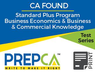 CA Foundation Standard Plus Program Business Economics & Business and Commercial Knowledge Test Series