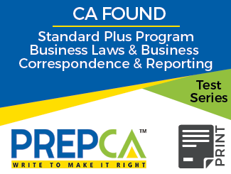 CA Foundation Standard Plus Program Business Laws & Business Correspondence and Reporting Test Series