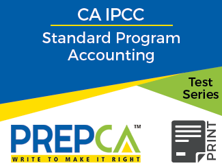 CA IPCC Standard Program Accounting Test Series