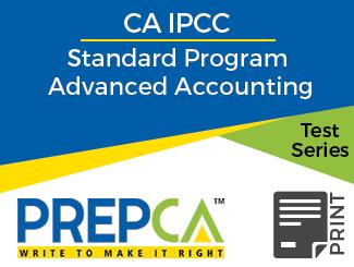 CA IPCC Standard Program Advanced Accounting Test Series