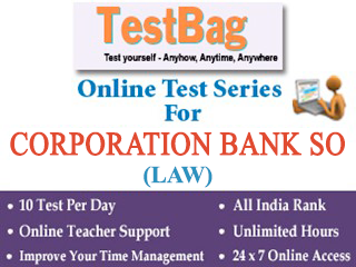 Corporation Bank SO LAW Test Series (1 Month)