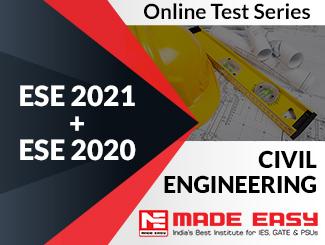 ESE 2020 + ESE 2019 Civil Engineering Online Test Series