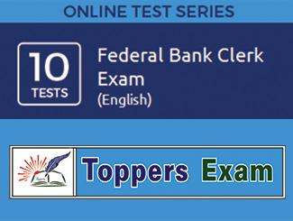 Federal Bank Clerk Exam - English