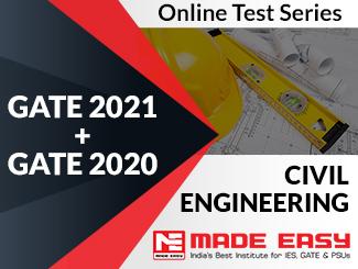 GATE 2020 + GATE 2019 Civil Engineering Online Test Series