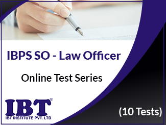 IBPS SO Online Test Series - Law Officer (10 Tests)