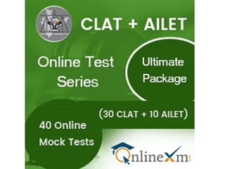 CLAT + AILET Online Test Series- Ultimate Package