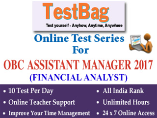 OBC Assistant Manager Online Test Series (1 Month)