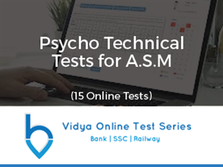 Psycho Technical Test For A.S.M - 15 Tests