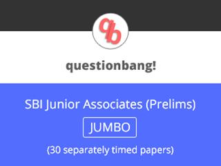 SBI Junior Associates (Prelims) - JUMBO Pack Online Test Series