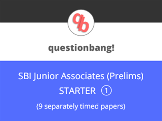 SBI Junior Associates (Prelims) - Starter Pack 1 Online Test Series