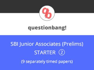 SBI Junior Associates (Prelims) - Starter Pack 2 Online Test Series