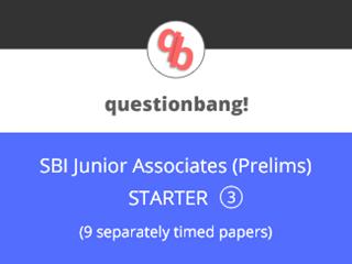SBI Junior Associates (Prelims) - STARTER Pack 3 Online Test Series