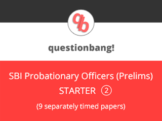 SBI Probationary Officers (Prelims) Starter Pack 2 Online Test Series