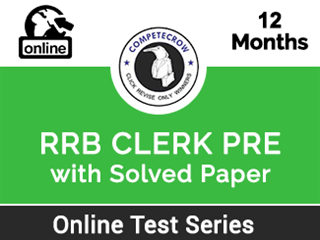 RRB CLERK PRE : Online Test Series And Solved Paper
