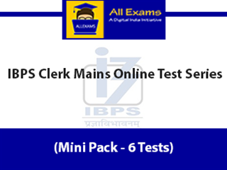 IBPS Clerk Mains Online Test Series (Mini Pack - 6 Tests)