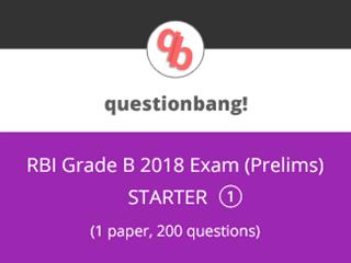 RBI Grade B Exam (Prelims) Starter Pack 1 Online Test Series