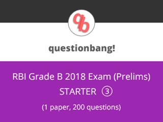 RBI Grade B Exam (Prelims) Starter Pack 3 Online Test Series