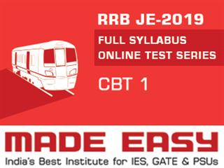 RRB JE-2019 CBT 1 Online Test Series