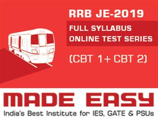 RRB JE-2019 (CBT 1 + CBT 2) Online Test Series