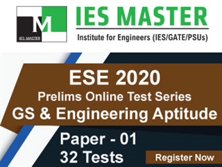 ESE 2020 Prelims Online Test Series for GS and Engineering Aptitude Paper 1