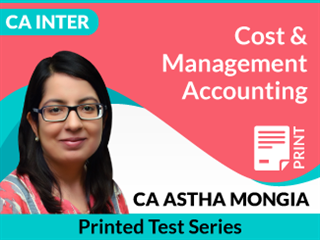 CA Inter Cost & Management Accounting Test Series by CA Astha Mongia (Printed)