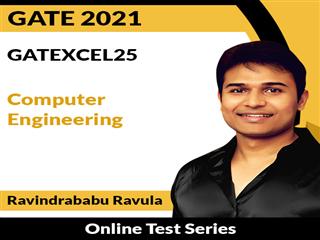 GATEXCEL25 Computer Engineering Online Test Series by Ravindrababu Ravula