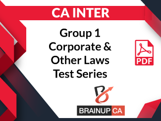 CA Inter Group-1 Corporate & Other Laws Test Series (PDF)