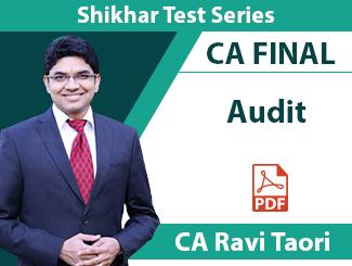 CA Final Audit Shikhar Test Series