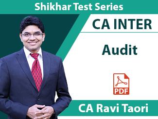 CA Inter Audit Shikhar Test Series