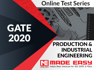 GATE 2020 Production & Industrial Engineering Online Test Series