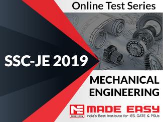 SSC-JE 2019 Mechanical Engineering Online Test Series
