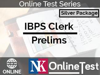 IBPS Clerk Prelims Online Test Series - Silver Package