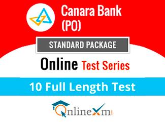 Canara Bank PO Online Test Series (Standard Package)