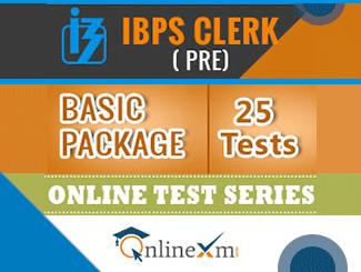 IBPS Clerk Pre Online Test Series (Basic Package)