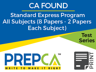 CA Foundation Standard Express Program All Subjects (8 Papers - 2 Papers Each Subject) Test Series