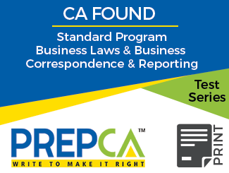 CA Foundation Standard Program Business Laws & Business Correspondence and Reporting Test Series