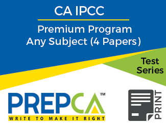 CA IPCC Premium Program Any Subject (4 Papers) Test Series