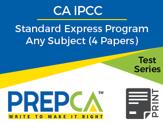CA IPCC Standard Express Program Any Subject (4 Papers) Test Series