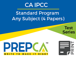 CA IPCC Standard Program Any Subject (4 Papers) Test Series