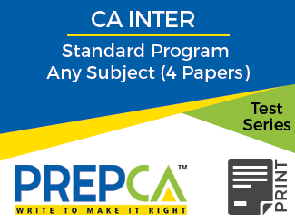 CA Intermediate Standard Program Any Subject (4 Papers) Test Series