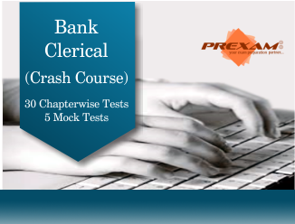Bank Clerical Crash Online Test Series by PREXAM