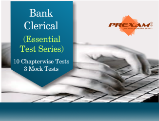 Bank Clerical Essential Online Test Series by PREXAM