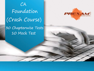 CA Foundation Crash Online Test Series by Prexam