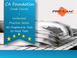 CA Foundation Crash + Unlimited Practice Online Test Series by Prexam