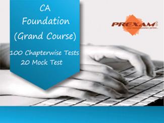 CA Foundation Grand Online Test Series by Prexam